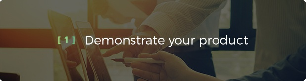 1 Demonstrate Your Product - product video services