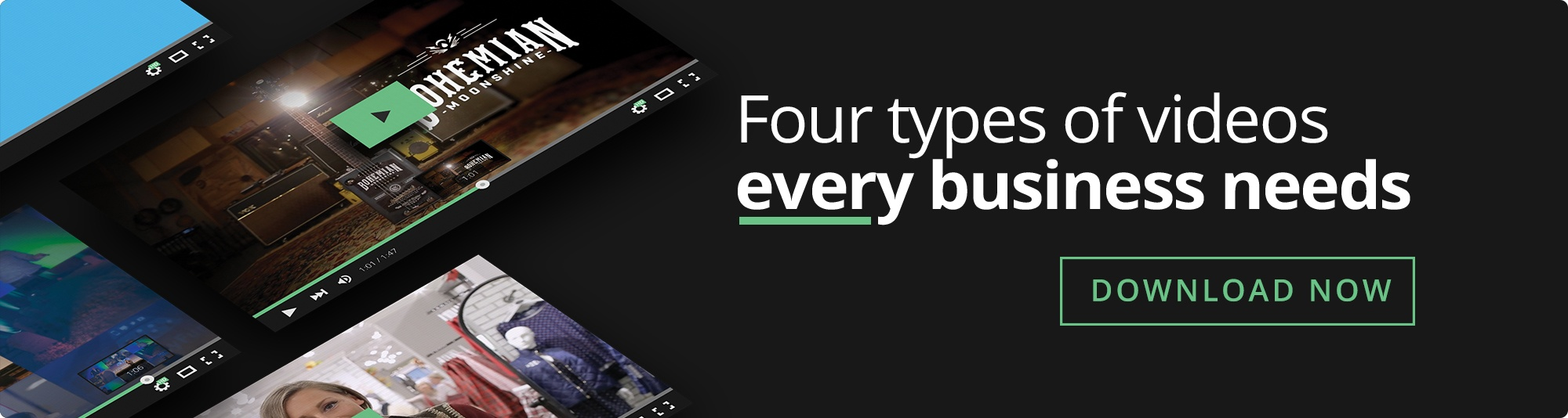 Four Types Of Videos Every Business Needs - eBook