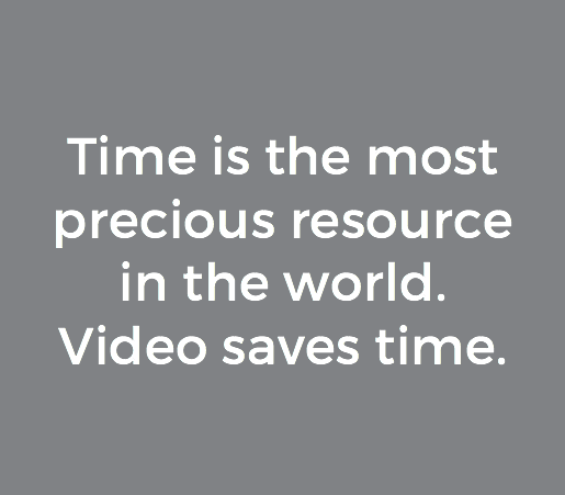 video saves time
